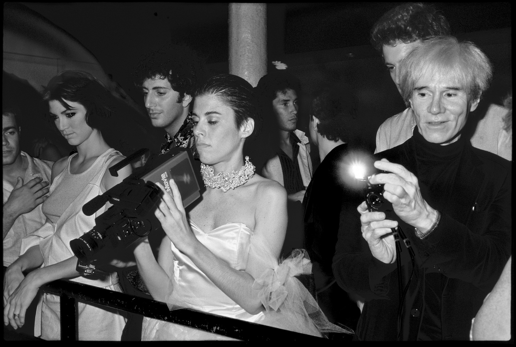 Andy Warhol at the Area Club, New York 1984