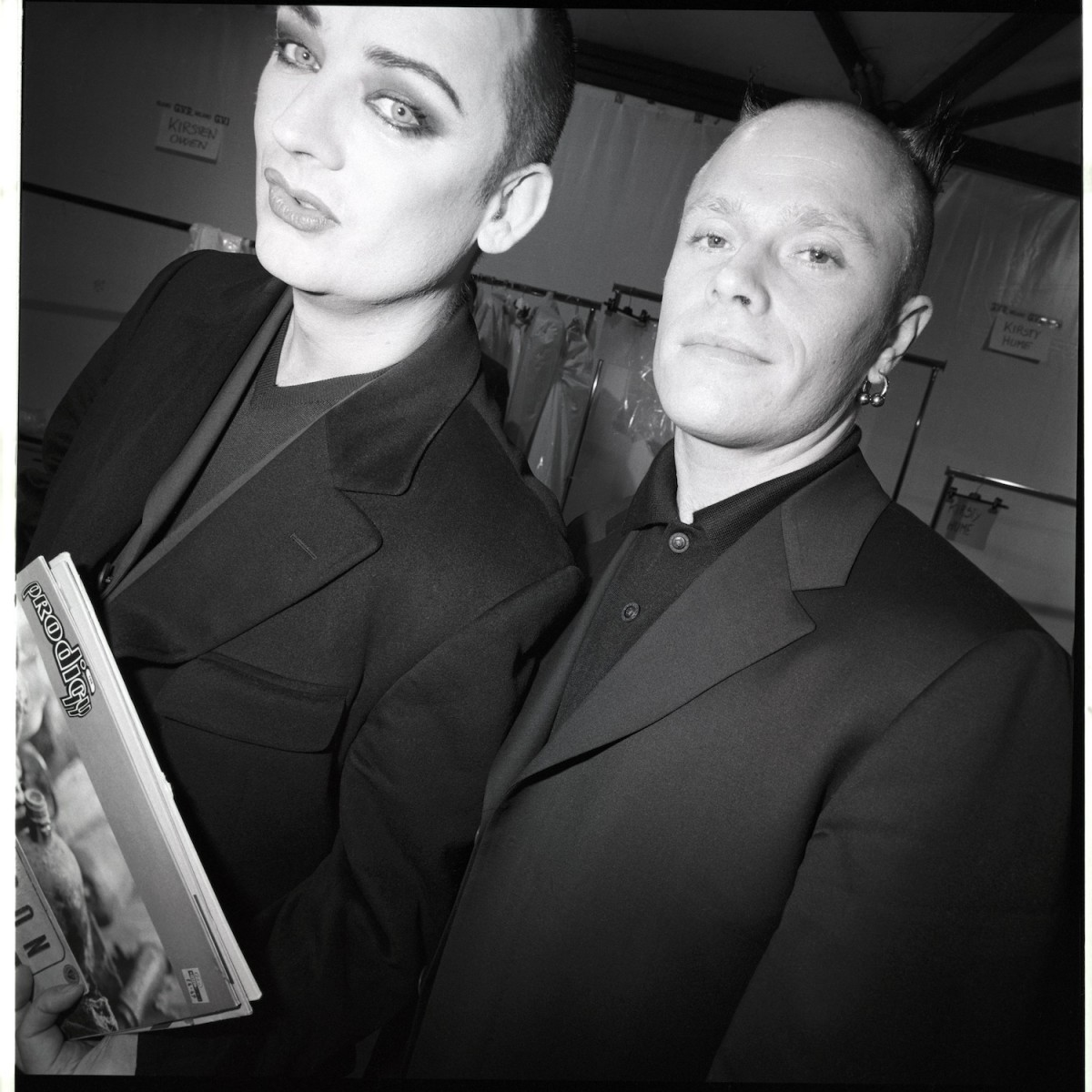 Boy George and Keith Flint at a Fashion Show, 1998