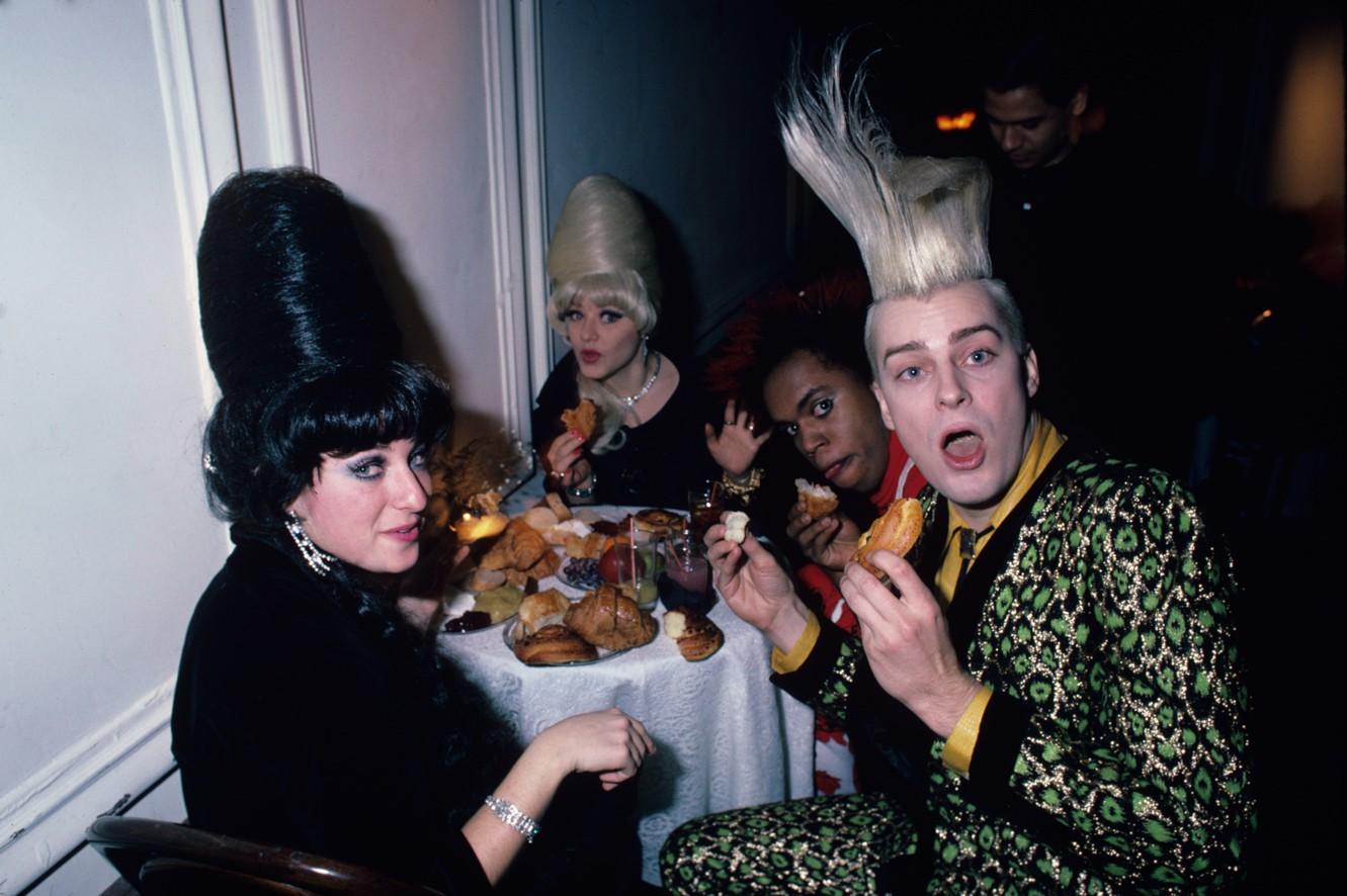 Dining with John Sex at the Area Club, NY 1984