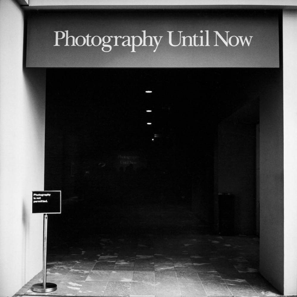 Entrance Photo Department MoMa, New York 1990