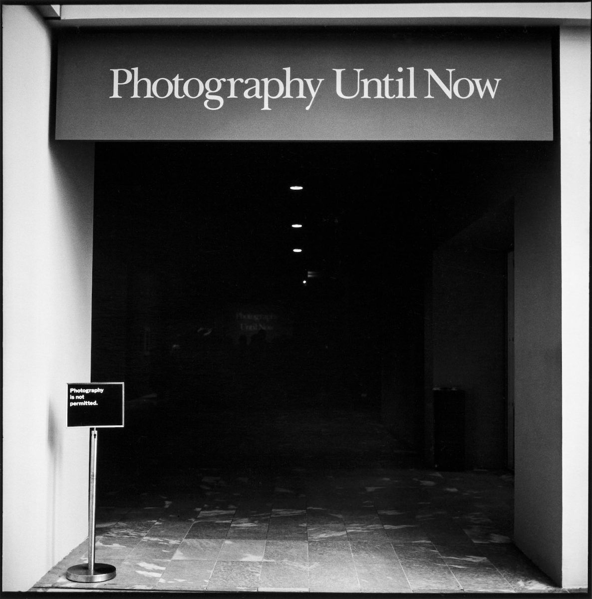 Entrance to MoMa's Photo Department, New York City 1990