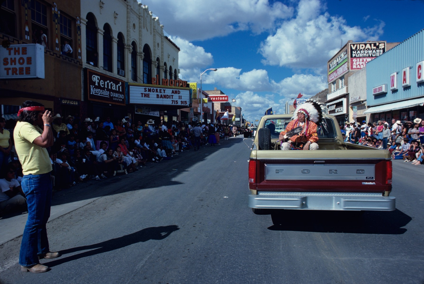 Indian Parade on Route 66, 1980