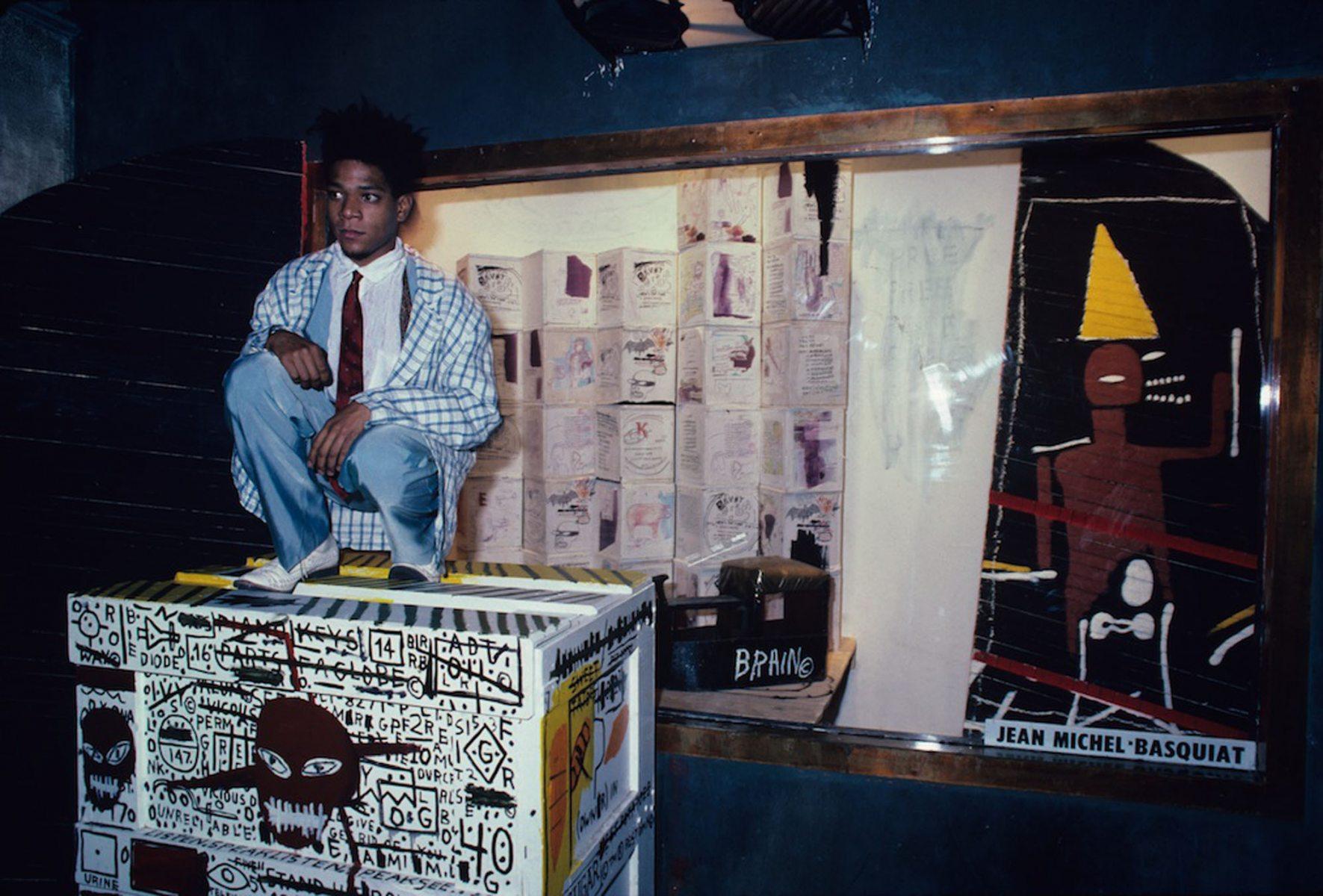 Jean-Michel Basquiat at the Area Club, NY 1985