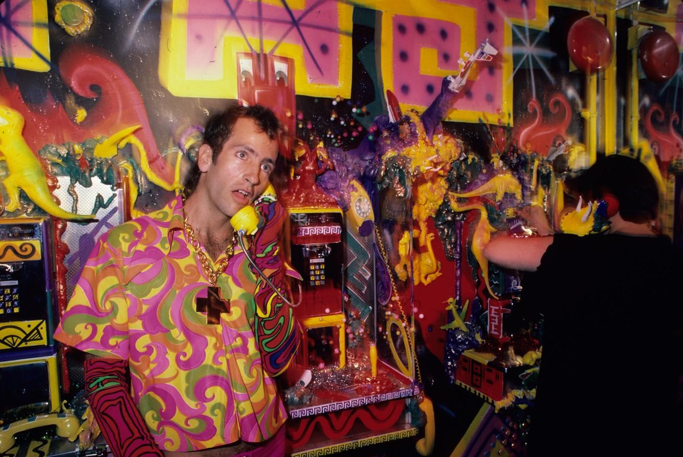 Kenny Sharf at the Area Club, NY 1985
