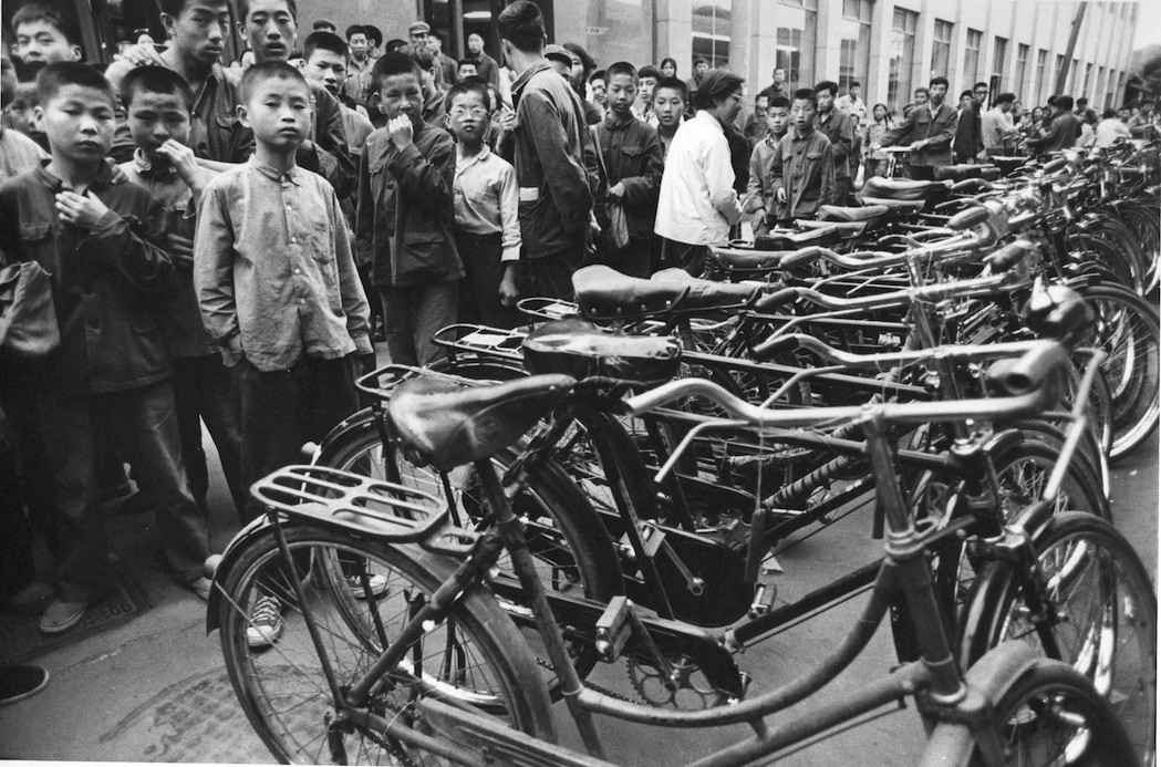 Children before a Row of Bikes in Shanghai, 1973