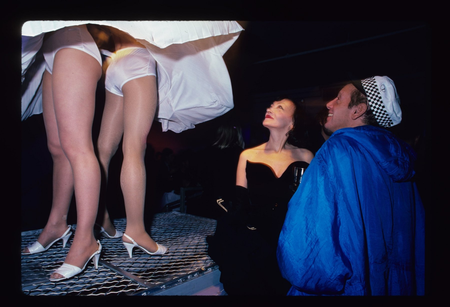 Steve Rubell's View Underneath the Skirt of Double Marilyn, NY 1985