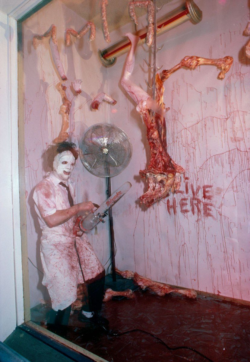 Texas Chain Saw Massacre Installation at the Area Club, NY 1984