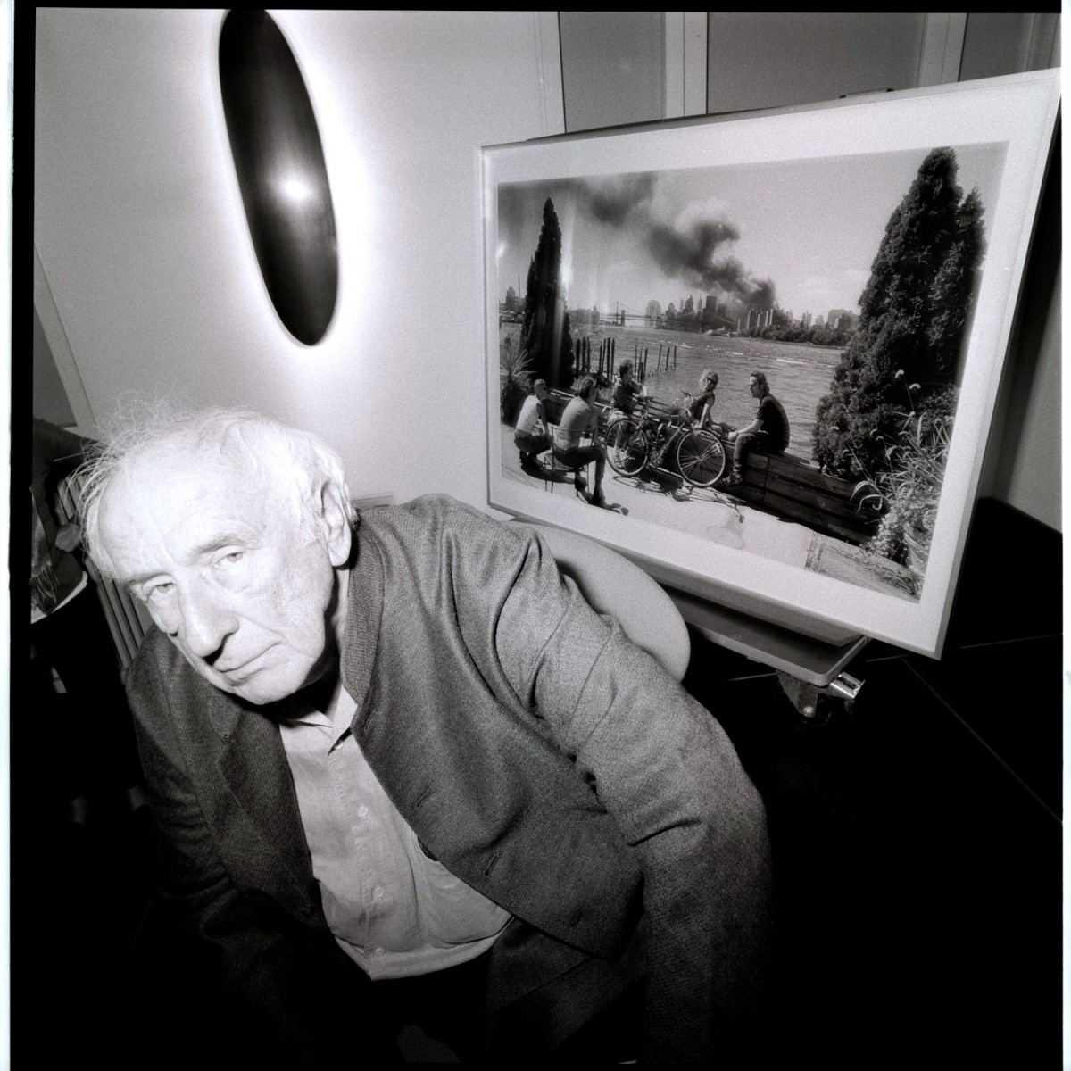 Thomas Hoepker with his 9/11 Picture, Hamburg 2012