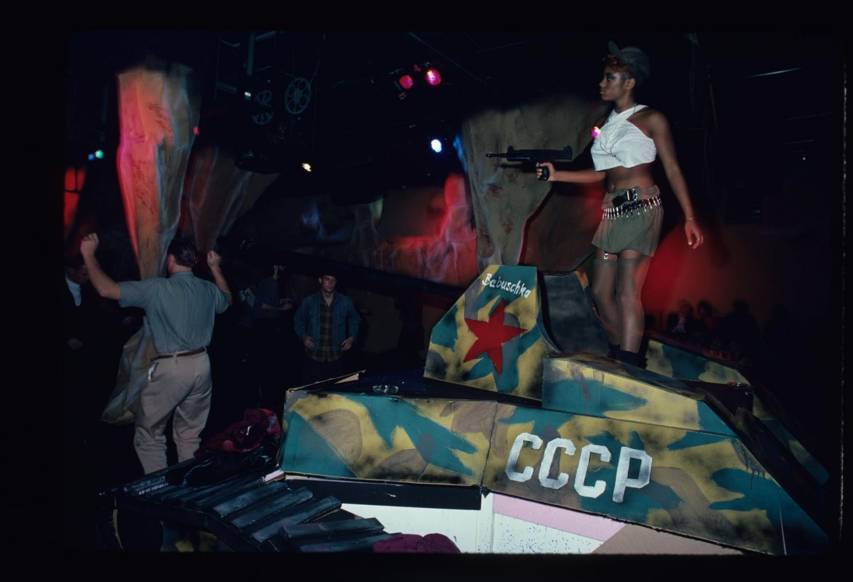 War Evening at the Area Club, NY 1984