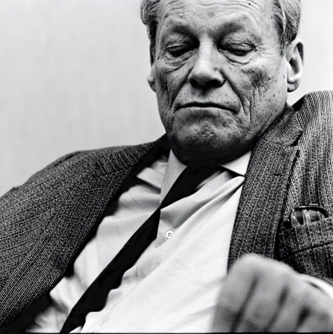 Ex-Cancellor Willy Brandt at a Party Convention, Dortmund 1983