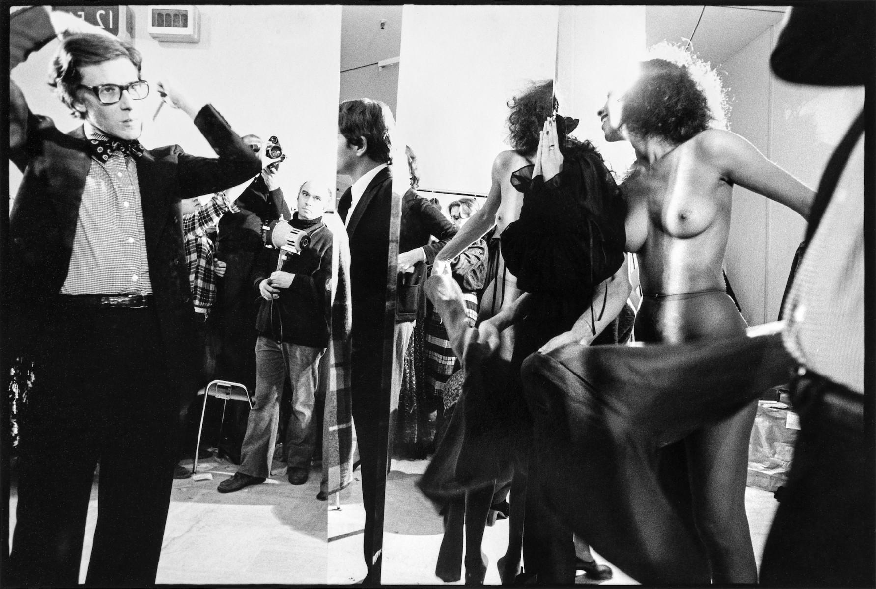 Yves Saint Laurent in a Mirror, Paris 1977