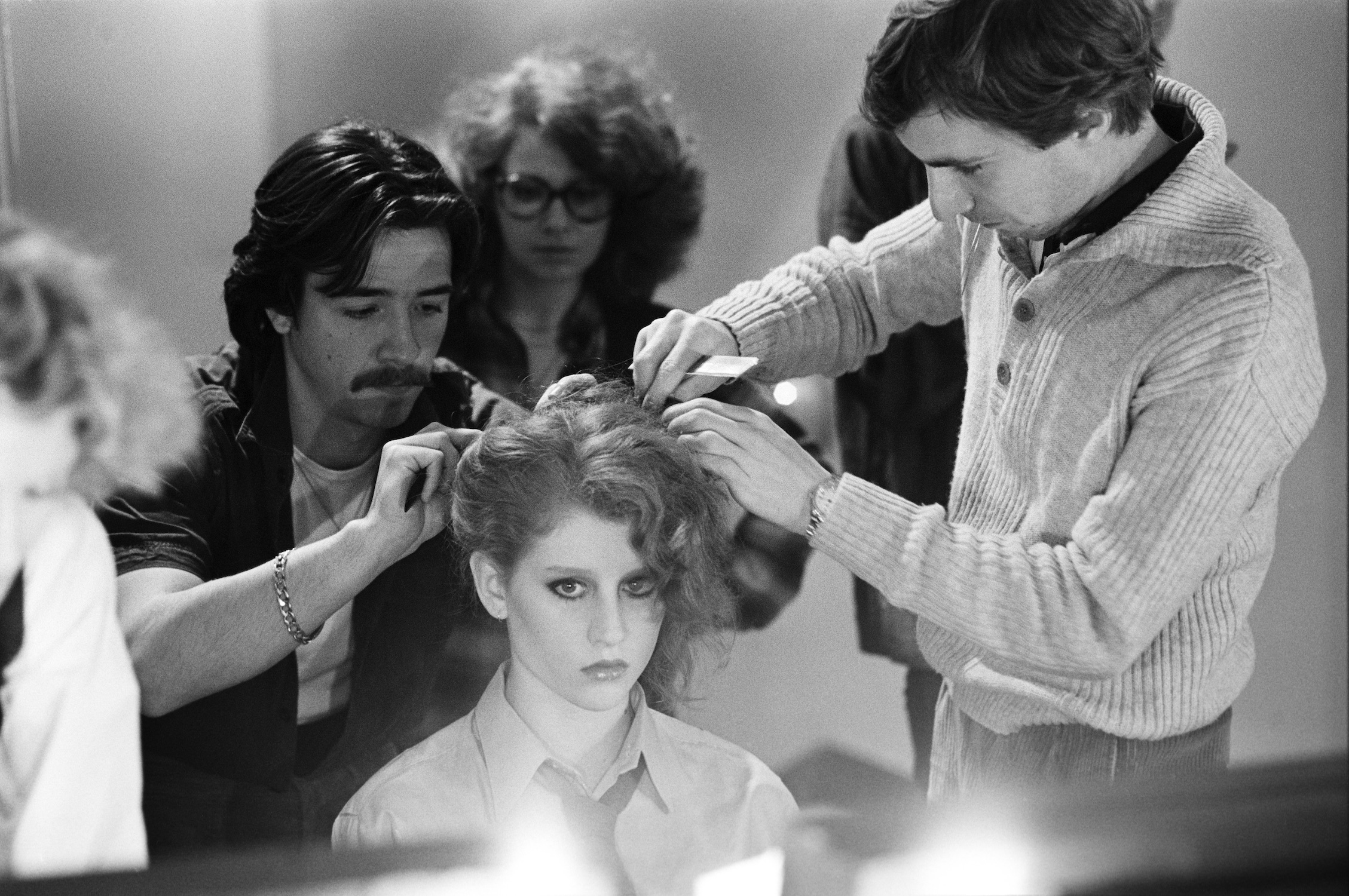 Hairstyle Before the Fashion Show, Paris 1978